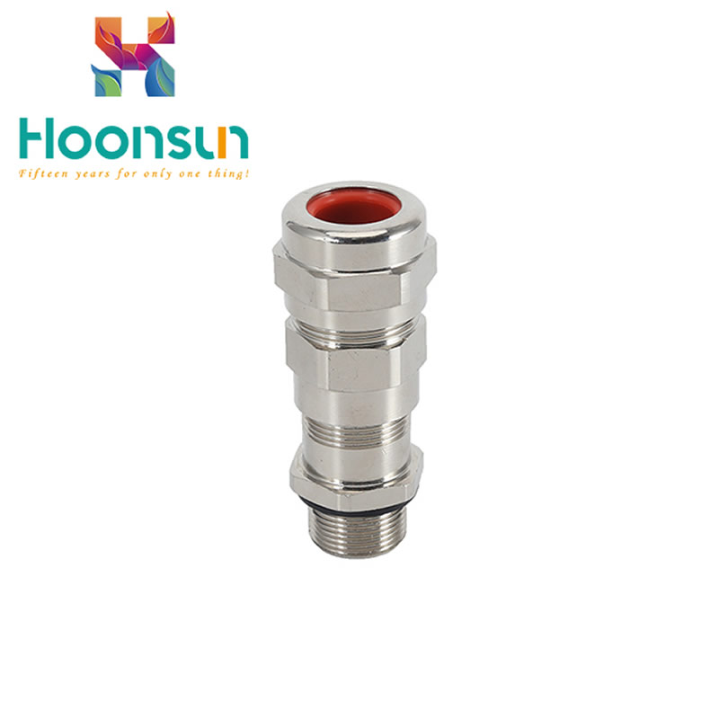 IP66 explosionproof metal threaded armoured cable gland manufactory